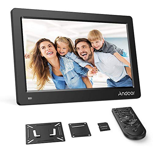 Andoer 15.6 Zoll Digitaler Bilderrahmen IPS Bildschirm Unterstützung Kalender/Uhr / MP3 / Fotos / 1080P Video Player mit Wandhalterung + 8 GB Speicherkarte Schönes (Uhr Mp3-player)