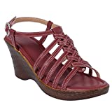 SUYASH Art Sole Comfortable and Stylish Synthetic Wedges for Women's & Girl's (ESS 213-P)