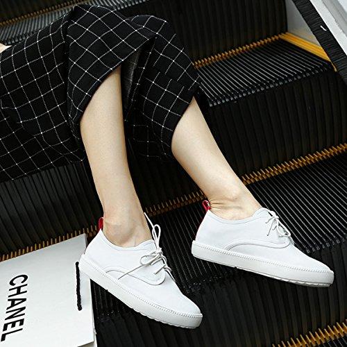 Damen Sneaker Flach Rundzehen Einfach Süß Klassisch Lässig Weich Bequem Sportlich Freizeit Schick Topaktuell Schnürschuhe Weiß,Rot