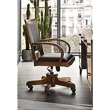 Chaise de bureau cuir et bois pied pour fauteuil de bureau