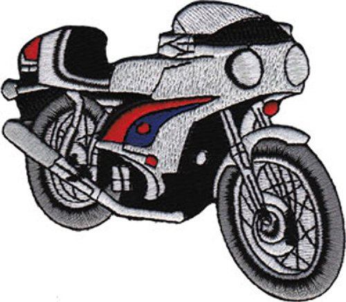 VINTAGE MOTORCYCLE Application Cafe Racer Patch pièce Car Iron-On / Sew-On HOT ROD Officially Licensed Car & Bike Culture Artwork Création, 3.25\