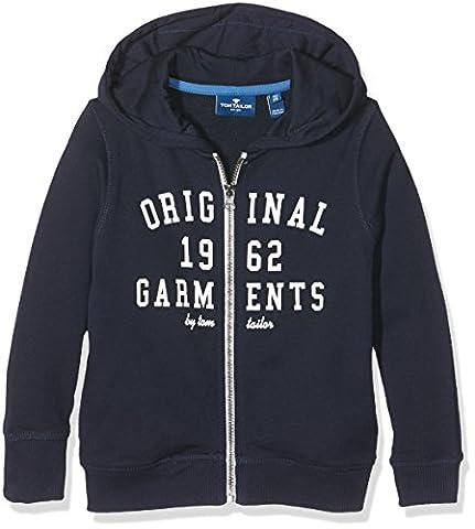 TOM TAILOR KIDS Jungen Kapuzenpullover Hooded Sweat Jacket, Blau (Real Navy Blue1 6975), 98 (92/98)