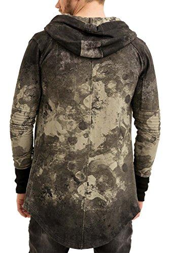 trueprodigy Casual Herren Marken Sweatjacke mit Aufdruck, Oberteil cool und stylisch mit Kapuze (Langarm & Slim Fit), Sweat Jacke für Männer bedruckt Farbe: Khaki 2573113-0629 Khaki