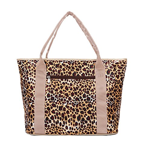 Anne, Borsa a spalla donna rosso Rose Red Noble leopard
