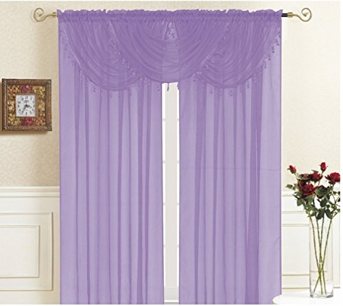 kashi-home-lisa-valance-collection-window-accent-valance-36-x-35-lightweight-solid-sheer-style-with-