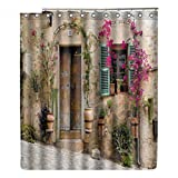 Blume Haus Duschvorhänge Mit 12 Haken Für Badezimmer Dekor Moderne Bad Wasserdichte Vorhang Badaccessoires