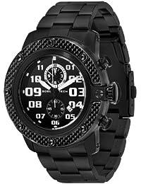 Glam Rock 0.96.2859 - Reloj analógico de cuarzo unisex, correa de acero inoxidable color negro