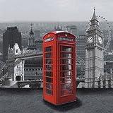 20 Servietten London Big Ben Vereinigtes Königreich United Kingdom Rot