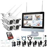 ANNKE Überwachungskamera Set mit Monitor 1080P 4CH 12 Zoll 2.0Megapixel Funk NVR Überwachungssystem mit 4 x 1080P WLAN IP Kamera Vorinstalliert 1TB Festplatte Videoüberwachungssystem für Innen Außen - 2
