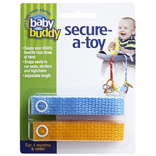 Baby Buddy Lot de 2 sangles Secure-A-Toy
