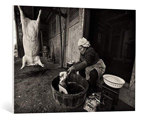 """Quadro su tela: Nicolas Marino """"Capital punishment"""" - stampa artistica di alta qualità, tela con intelaiatura in legno, quadro pronto per essere appeso, 95x70 cm"""