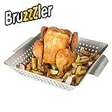 Bruzzzler Support de cuisson pour poulet, grille pour poulet rôti, acier inoxydable