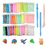 Kit Fluffy Slime fai da te, Togather 36 colori Putty Floam Slime Sollievo dallo stress Giocattoli No borace regalo di Natale per adulti e bambini