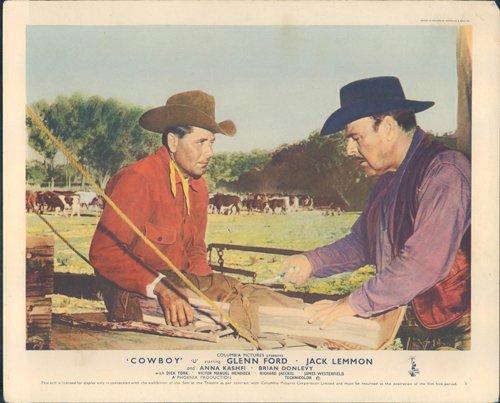 cowboy-original-lobby-carte-bonanza-creek-ranch-glenn-ford-brian-donlevy