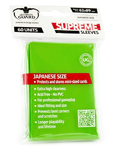 Preisvergleich Produktbild Ultimate Guard UGD010134 - Supreme Hüllen, Japanische Größe, 60 Stück, hellgrün