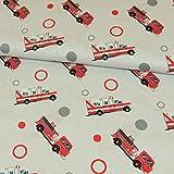 Baumwollstoff Rettungsfahrzeuge Kinderstoffe Krankenwagen