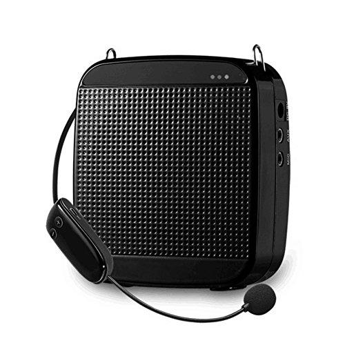 WinBridge S613 2.4G 18W 7.4V/1200mAh Drahtlose Digital Stimmverstärker mit headset mikrofon für Reiseführer, Lehrer, Trainer, Vorträge, Kostüme, Usw Schwarz