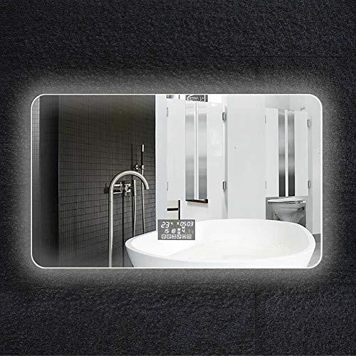Bathroom mirror specchio bagno_led parete specchio bagno specchio intelligente a due colori luce + pellicola anti-nebbia + sei tocco interruttore + data/ora / temperatura + bluetooth + audio