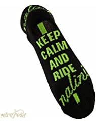 "Nalini – Calcetines de ""Keep Calm And Ride de Settanta Negro/Fluo, negro"