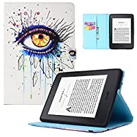 Cover for Kindle Paperwhite, Dteck Super Thin [Auto Wake/Sleep] Magnetic Book Style Flip Protective Case for Amazon All-New Kindle Paperwhite (Fits All 2012, 2013, 2015 and 2016 Versions), Big Eyes