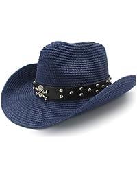 695a71f5897ae HBR Diseño de Remache Sombrero de Sol Sombrero de Rafia Sombrero de  Mezclilla de Verano Cinturón