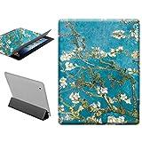CASEONE Custodia per iPad 2 iPad 3 iPad 4, Mandorlo in Fiore - Van Gogh Cover con Funzione di Supporto, Libro Pieghevole, Smart Cover Stand (mandorlo in Fiore - Van Gogh)