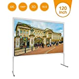 Xerona 120 Inches 16:9 HD 290×168CM 4K Projector Screen with Stand Portable Outdoor Campaign Movie Indoor Home Theater Projection Screen Assembling