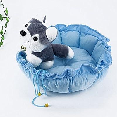 ourbest mascota cachorro perro gato dormir cama cojín Mat perrera nido cálido casa azul