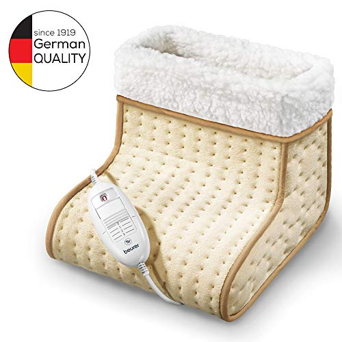 Beurer FW 20 Fußwärmer, mit Teddyfutter, 3 Temperaturstufen, Abschaltautomatik, waschbarer Fußsack