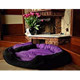 """PetsMaker"""" Deluxe Pet Bed For Dogs And Cats Velvet Ultra-Soft Plush Solid Pet Sleepeer -Medium"""