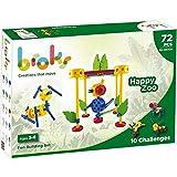 BROKS - Happy Zoo: Juego de construcción educativo para montar animales. 72 piezas encajables de alta calidad.