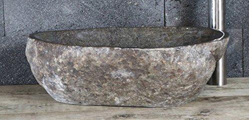 Aufsatzwaschbecken aus Flussstein, ca. B50 x T40 x H14,5 cm