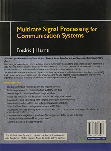 Multirate Signal Processing for Communication Systems, 1e