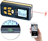 AGT Professional Messgerät: Laser-Entfernungsmesser mit LCD & Bluetooth, Messbereich 5 cm - 60 m (Lasermessgerät)