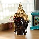 #5: eCraftIndia Buddha Head(17 Cm X 9 Cm,Golden)