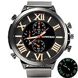 ultnice Shi Wei Bao Luminous Uhren Quarz Analog Armband Edelstahl Uhr Herren