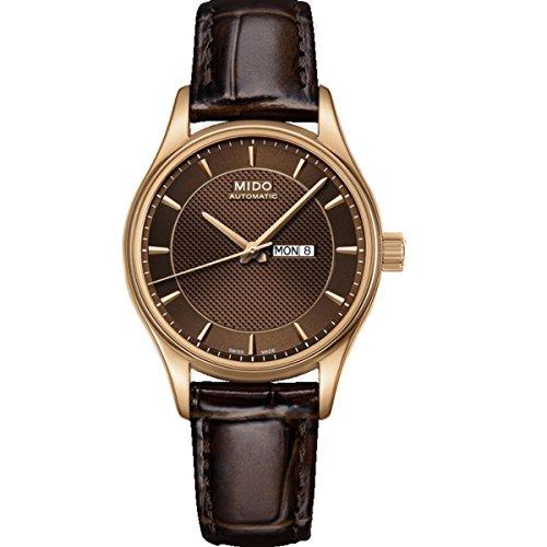 Mido Belluna M0012303629112 - Reloj para mujeres, correa de cuero color marrón
