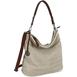 Damen Tasche Schultertasche Große Umhängetasche in 5 Farben Handtasche für Frauen Sommer Design Crossbody (3126) (Natur)