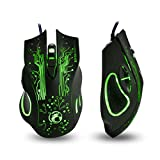 Vktech® Gaming-Maus/Gaming Maus schnurgebunden mit LED optische 2400dpi 8D Estone X9 6 Tasten USB kabelgebunden PC Gaming Mouse WOW Razer