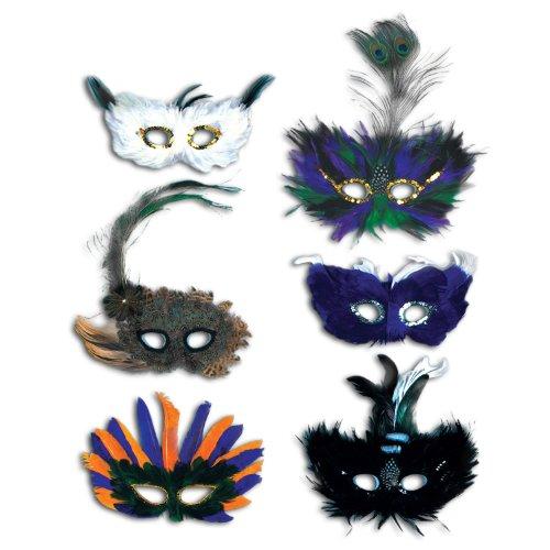 Beistle Majestic Fanci-Feather Masken