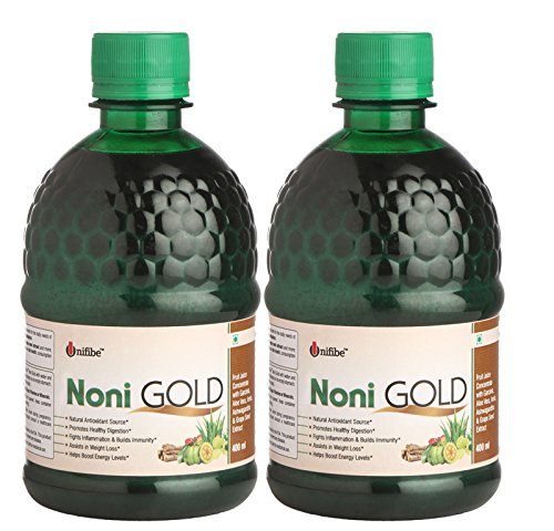 Shrey's Unifibe Noni Gold Juice with Garcinia, Aloe Vera, Amla, Ashwagandha and Grape Seed Extract, 400 ml – Pack of 2