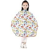 "Capa infantil para corte y lavado, capa impermeable para niños 37""x27""/94x68 cm (naranja)"