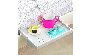 BedShelfie The Original Étagère de Chevet 3 Couleurs – 2 Tailles – comme vu sur Business Insider (Original de Taille, Bambou en Gris)