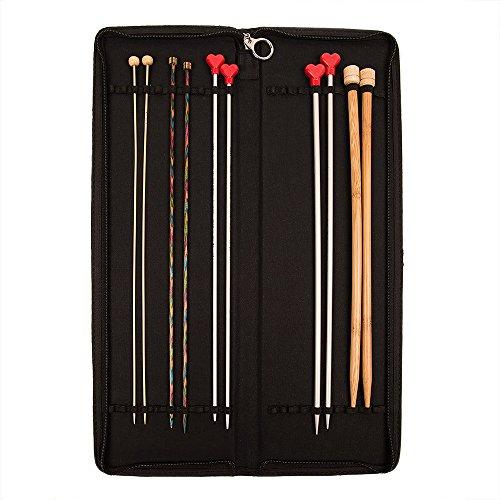 KnitPro KP10741 Boîte d'aiguilles dures de Tricotage, Coton par Jacquard Bois, Multicolore, 22 x 0,4 x 5 cm