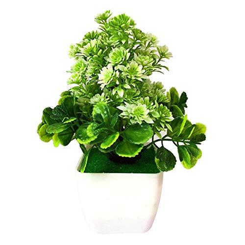 little finger Flores Artificiales de Dedo pequeño, 1 Unidad de Flores Artificiales de plástico para Decorar el salón o el Escritorio, plástico, Blanco, 1#