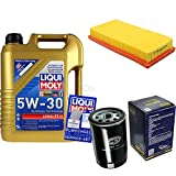 Filter Set Inspektionspaket 5 Liter Liqui Moly Motoröl Longlife III 5W-30 SCT Germany Luftfilter Ölfilter