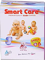 Saify Healthkart presents Smart Care super absorbent, skin friendly, premium quality Small size baby diaper 10 Pcs