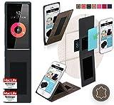 reboon Hülle für Obi Worldphone SF1 Tasche Cover Case Bumper | Braun Wildleder | Testsieger