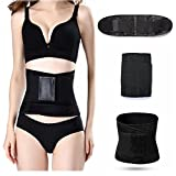 Postpartum Support Recovery Belly Belt Fitness Waist Belt Tummy Belt Waist Trainer Slimming Blet Postpartum Exercise Wrap Belt Adjustable Unisex Breathable Burn Fat Sweat Weight Loss Body Shaper