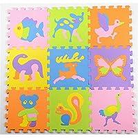 Abaobao® Puzzle alfombra de espuma para bebé para guarderías, garajes, lavanderías, dormitorios, salas de juegos... , goma EVA, Animal C, 30_x_30_cm - Peluches y Puzzles precios baratos